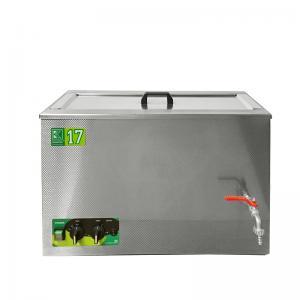 Průmyslová ultrazvuková lázeň K-17IM nerezová, mechanické ovládaní