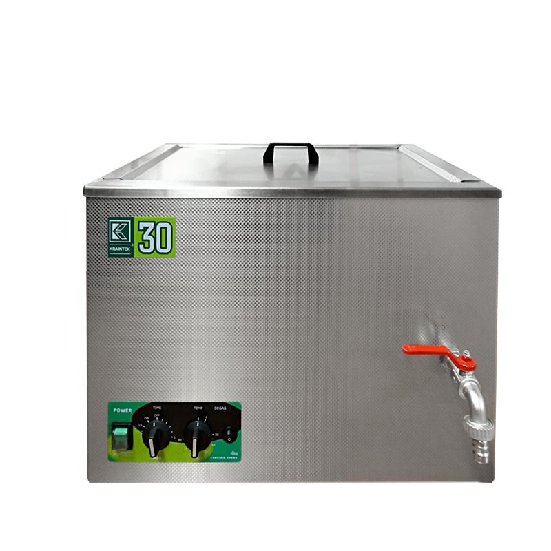 Průmyslová ultrazvuková čistička K-30IM nerezová, mechanické ovládaní