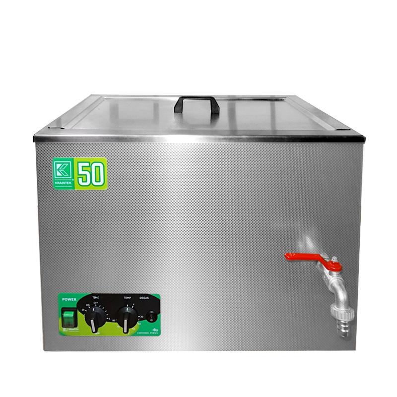Průmyslová ultrazvuková lázeň K-50IE nerezová, elektronické ovládaní